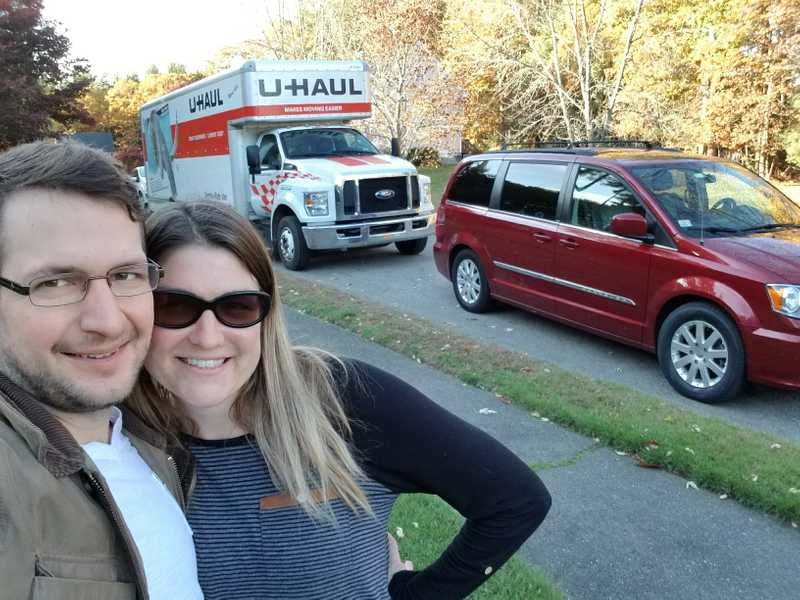 Dave, Amy and a U-Haul